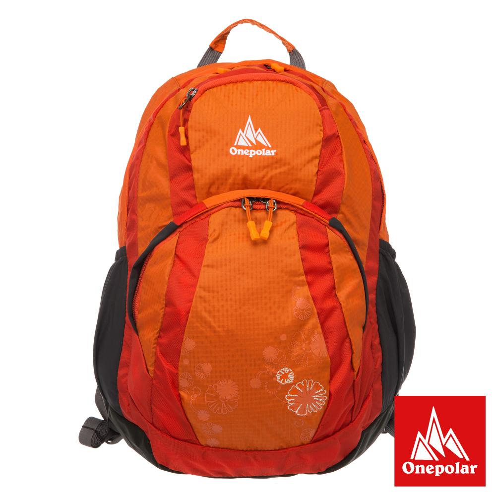 ONE POLAR 慢活蜂窩透氣後背包-橘色 PLA1525OG