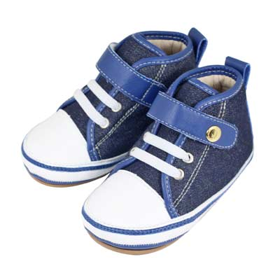 Swan天鵝童鞋-牛仔布高筒休閒學步鞋1520-藍