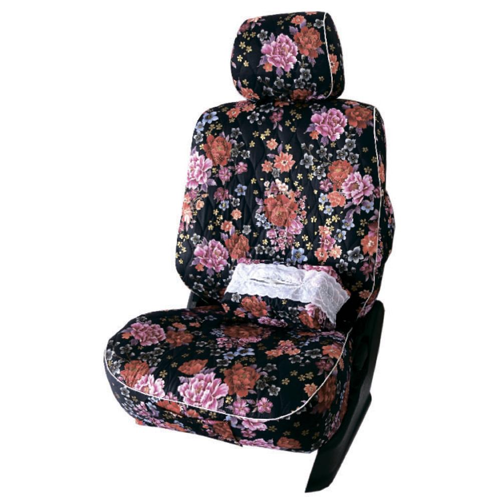 【葵花】量身訂做-汽車椅套-布料-花漾A-休旅車-6-8人座款1+2+3排