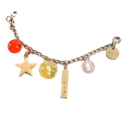 agnes b.水晶珠星星吊飾(黃)
