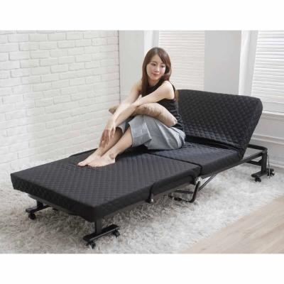 折疊床-6段記憶綿折疊床-黑免組裝-Simple-Life
