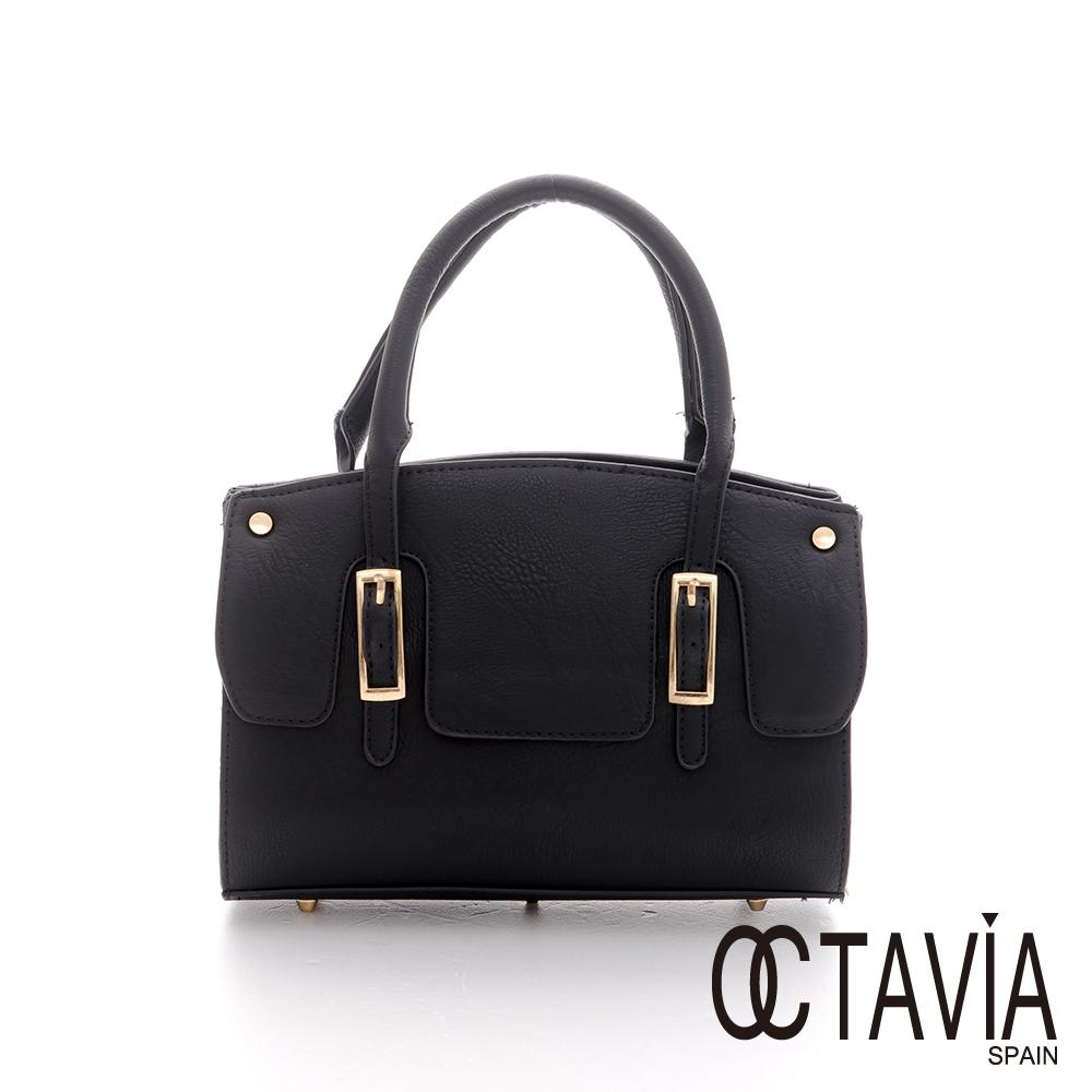 Octavia 8 - 敗金世家 皮帶釦柏金圓筒小提包 - 敗了黑