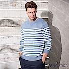 Nautica清新海洋風條紋針織衫 -天空藍