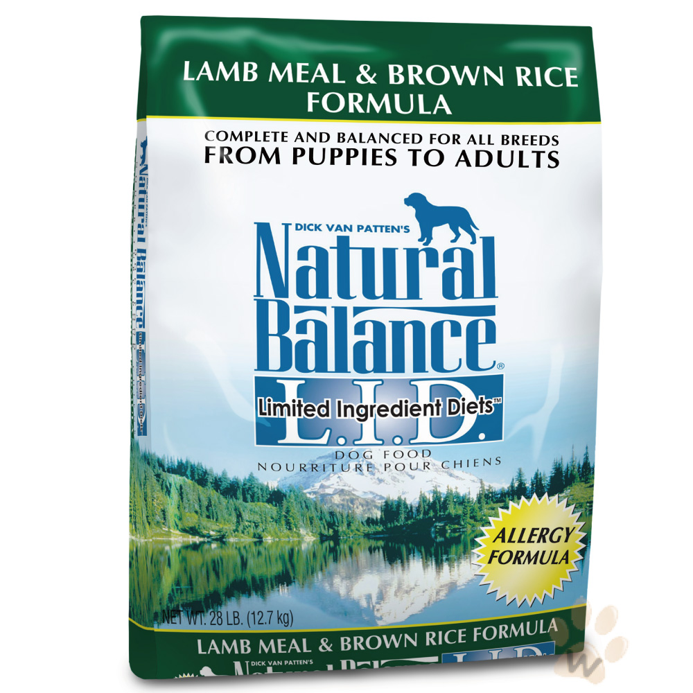 Natural Balance《羊肉糙米配方犬糧》5磅-1入