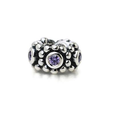 Pandora 潘朵拉 隔圈-淺紫鋯石鑲珠墜