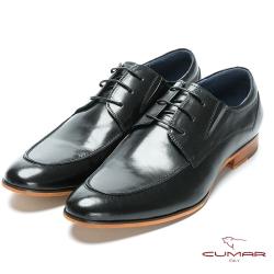 CUMAR 成熟穩重 經典綁帶紳士鞋-黑色