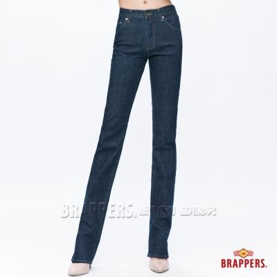 BRAPPERS 女款 女用彈性中低腰直統褲-深藍