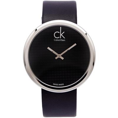 CK 玩美時尚手錶(K0V231C1)-黑面X黑色/46mm