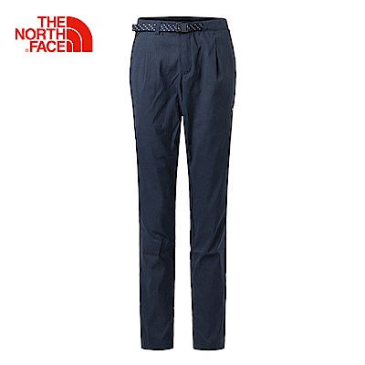 The North Face北面女款藍色舒適防潑水戶外休閒褲