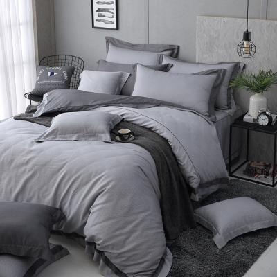 OLIVIA  羅蘭德  加大雙人鋪棉床包兩用被套四件組 歐式雙框款 棉天絲系列
