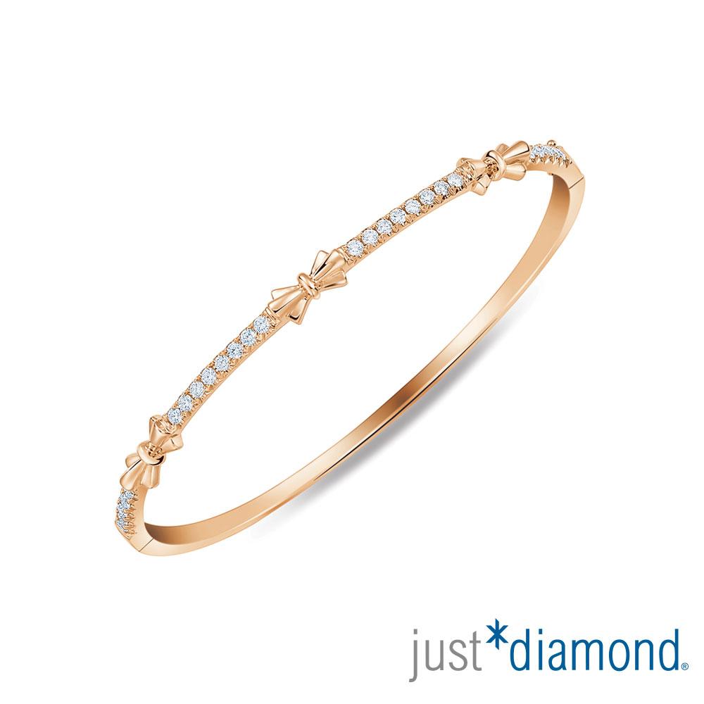 Just Diamond 玫瑰金 鑽石手環-Love Ribbon