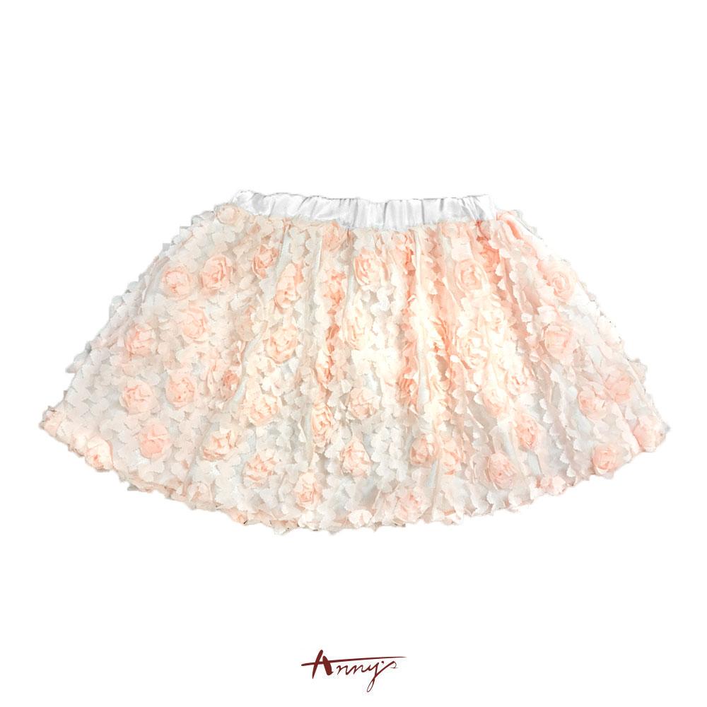 滿滿立體花朵網紗蓬蓬裙*3188粉