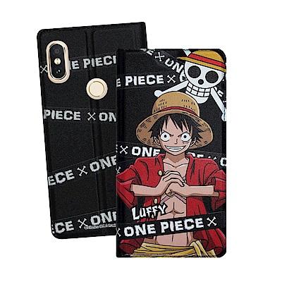航海王正版 紅米Note 5 彩繪磁力皮套(封鎖魯夫)