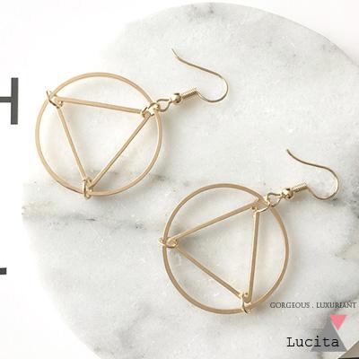 LuciTA 空運限量新品  真實之眼垂墜式耳環