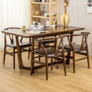 Jiachu 佳櫥世界-Robin羅賓一桌四椅-寬150深80高76公分