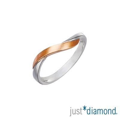 Just Diamond愛的約定18K雙色金 男女對戒-男戒