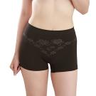 女內褲 極品竹炭無縫中腰平口褲/黑(超值3入) 源之氣