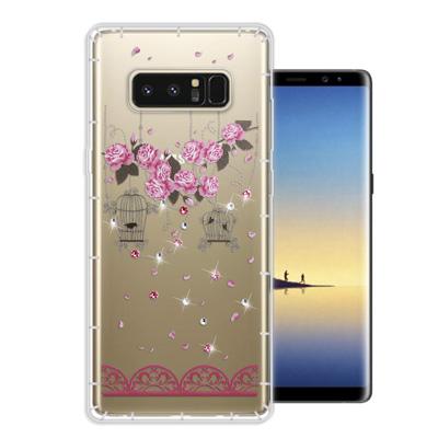 WT Samsung Galaxy Note 8 奧地利水晶彩繪空壓手機殼(璀璨...
