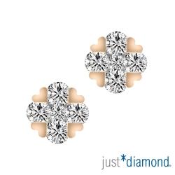 Just Diamond Shining Star系列18K玫瑰金鑽石耳環