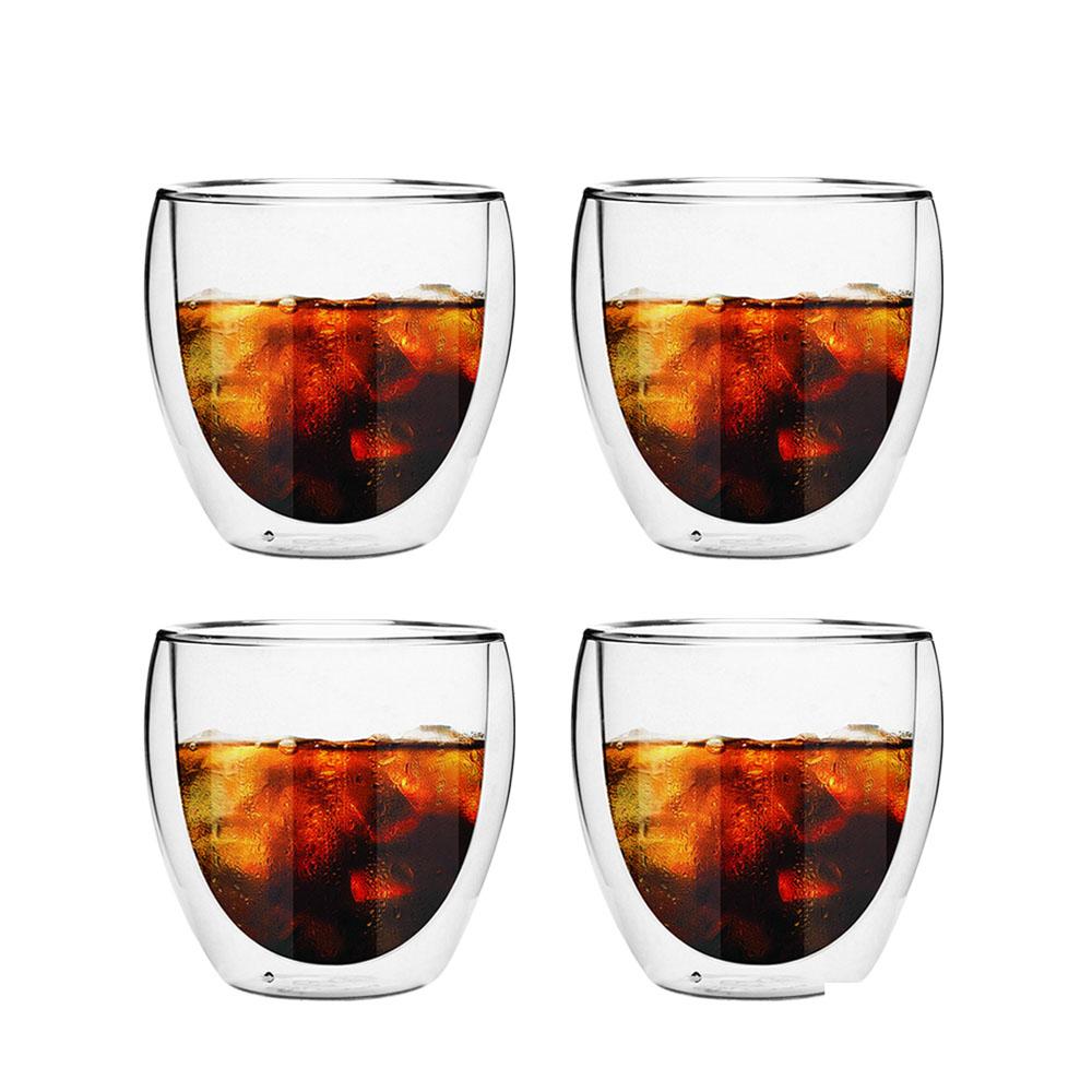FUSHIMA富島 雙層耐熱玻璃杯160ML*4入