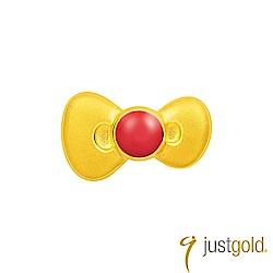 鎮金店Just Gold 經典復刻版Kitty黃金單耳耳環-蝴蝶結