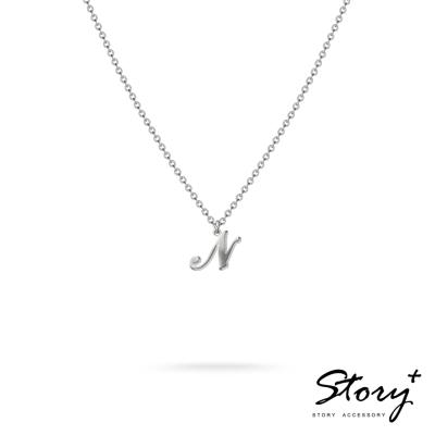 STORY ACCESSORY-字母系列-字母N 純銀項鍊