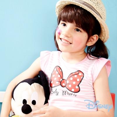 Disney甜美泡袖印圖上衣 粉紅色