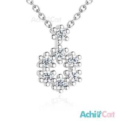 AchiCat 925純銀項鍊 幸福雪花 鎖骨鍊