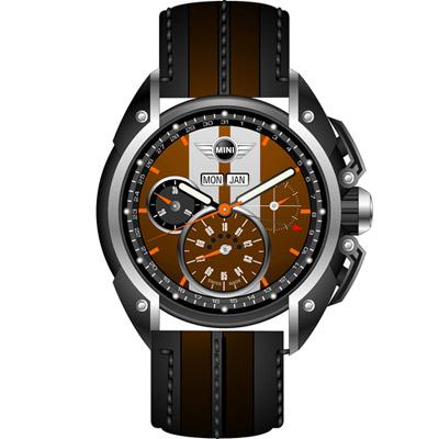 MINI Swiss Watches  極速運動計時腕錶-咖啡/45mm