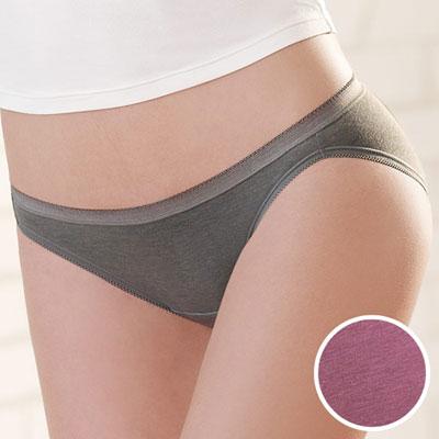 #  華歌爾-竹炭纖維單品褲M-LL低腰三角褲(竹炭粉)