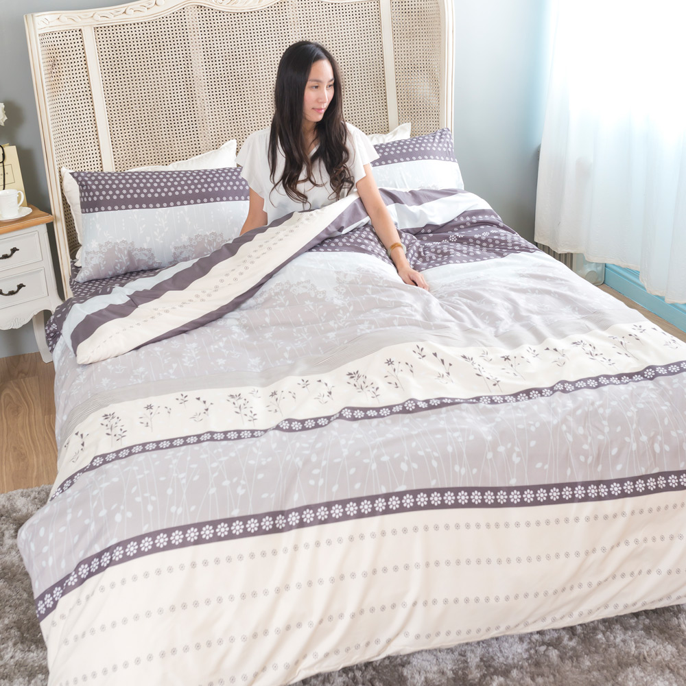 台灣製吸濕排汗系列SG 使用3M藥劑處理細緻柔絲綿 雙人床包枕套三件組 情戀多瑙河
