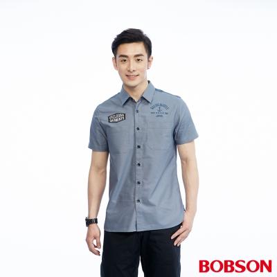 BOBSON  男款雙袋配色襯衫