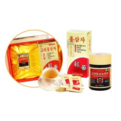 金蔘-高麗紅蔘精50g/罐+紅蔘茶包30入/盒(伴手禮盒組)