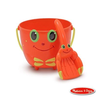 美國瑪莉莎 Melissa & Doug SP 卡通造型玩沙杓桶組 - 螃蟹快力克