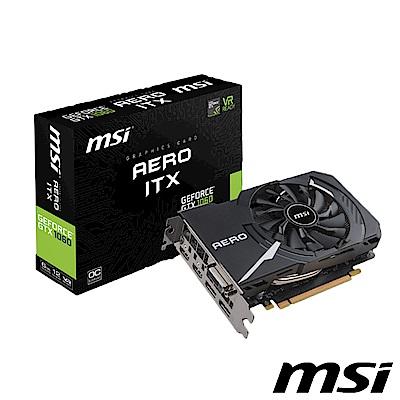 MSI 微星 GTX 1060 AERO 6G OC 顯示卡