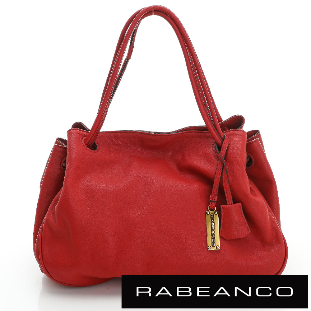 RABEANCO OL時尚粉領系列柔軟肩背包 紅