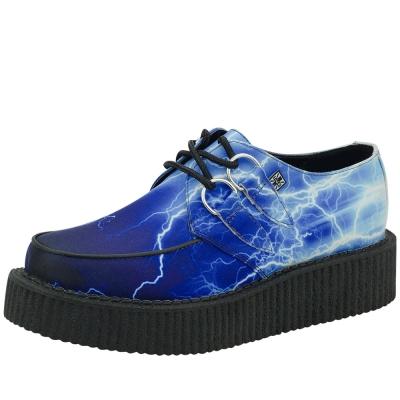 TUK閃電經典5公分龐克鞋-藍