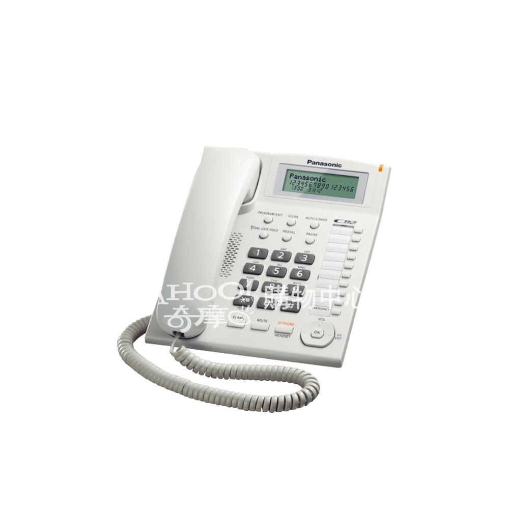 Panasonic 國際牌 多功能來電顯示有線電話KX-TS880(白色)