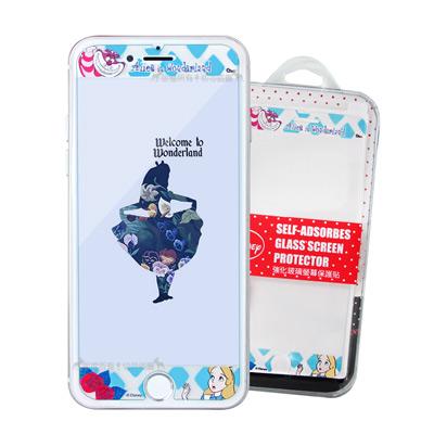 迪士尼 iPhone 8 Plus/i7+/i6s+ 花花系列全隱形玻璃貼(愛麗...