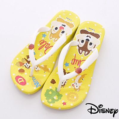 Disney迪士尼-奇奇&蒂蒂繽紛夾腳鞋-44024704黃(女段)