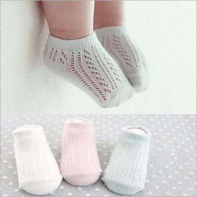 寶寶網狀鏤空短襪-3雙入