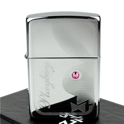 ZIPPO美系-PLAYBOY-施華洛世奇水晶貼飾