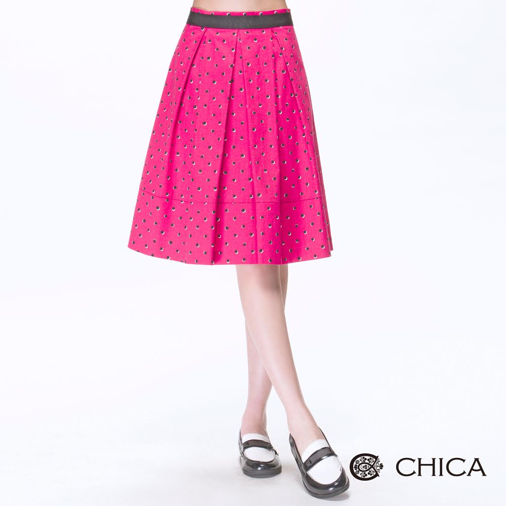 CHICA 小復古法式點點裙(2色)