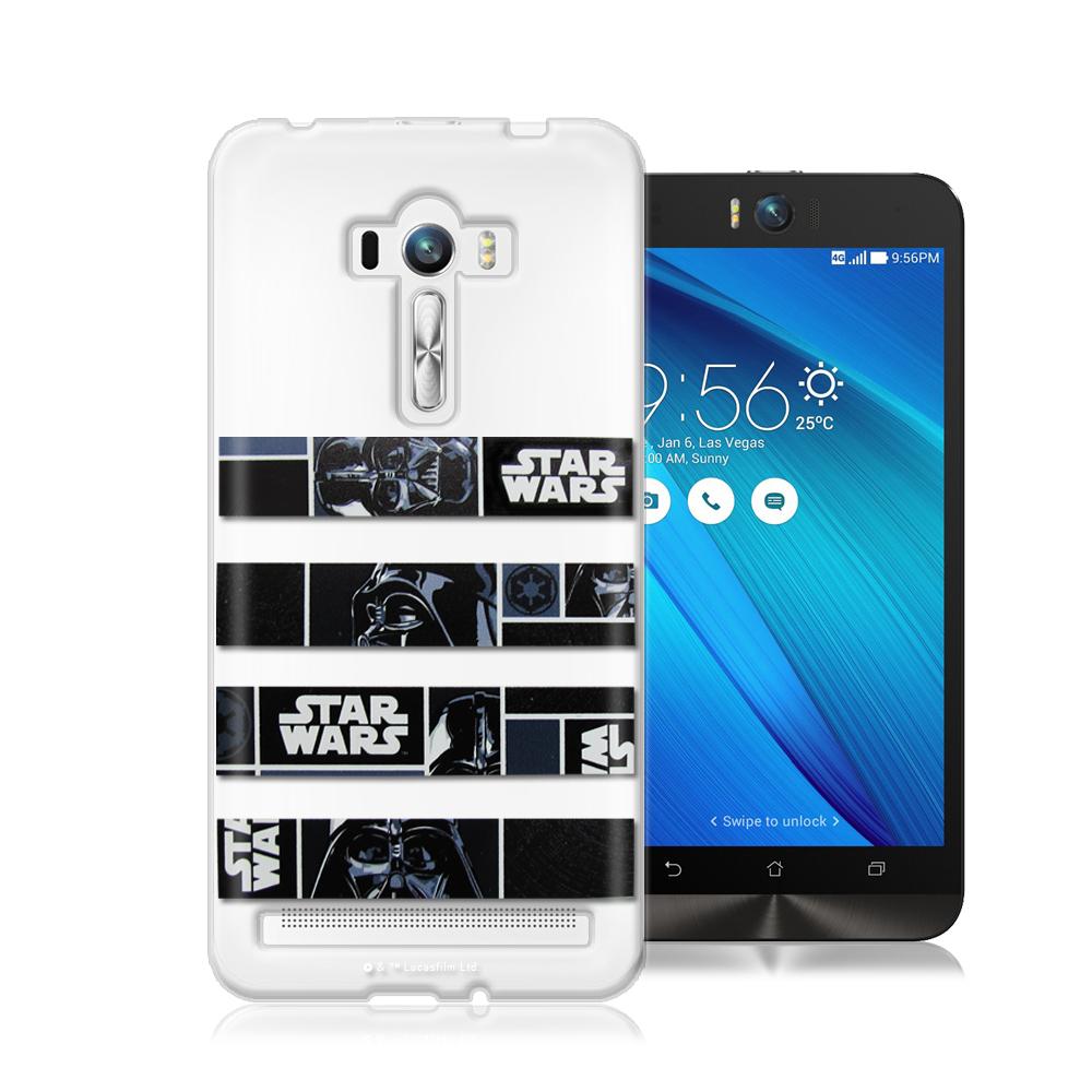 STAR WARS星際大戰ASUS ZenFone Selfie 軟式手機殼(橫條黑武士)