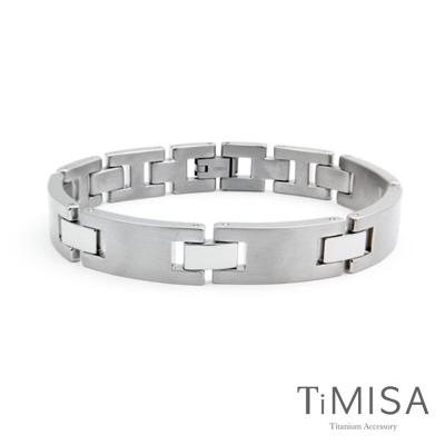 TiMISA 《藏愛掌心-寬版》純鈦鍺手鍊