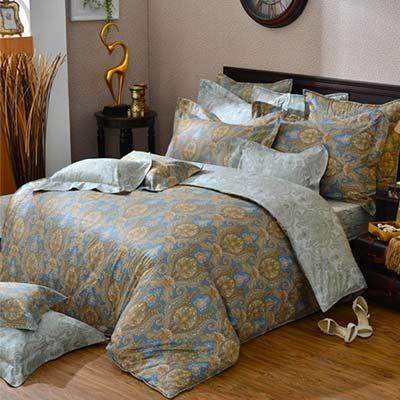 義大利La Belle 蘿蔓序語 加大四件式舖棉兩用被床包組