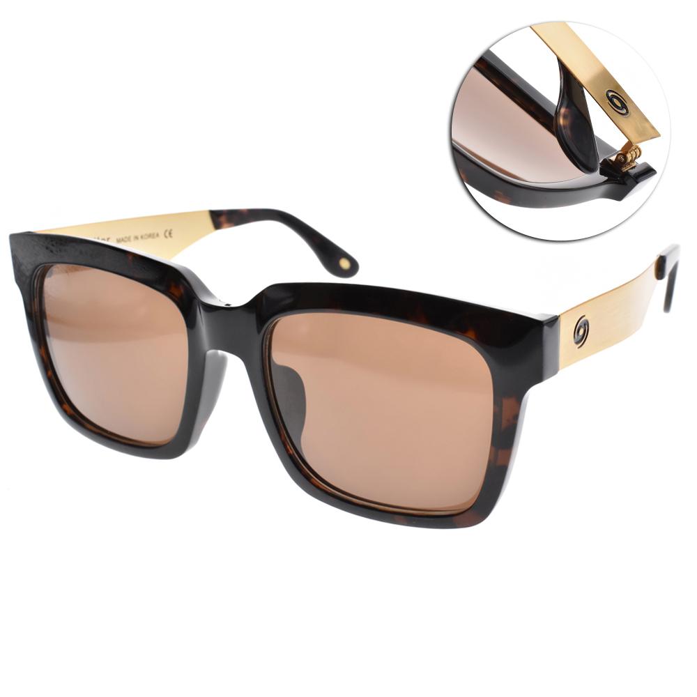 Go-Getter太陽眼鏡 個性方框/琥珀棕-金#GS4008 05