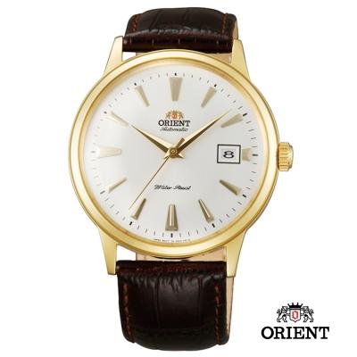 ORIENT 東方錶 DATEⅡ機械錶-白面金框/40.5mm