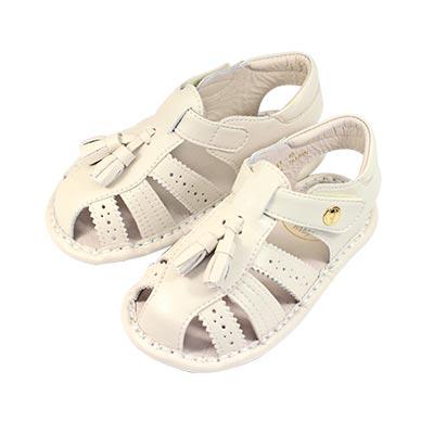 Swan天鵝童鞋-牛津雕花寶寶涼鞋1543-米