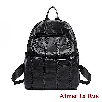 Aimer La Rue 後背包 羊皮愛絲特系列(黑色)